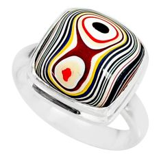 6.74cts fordite detroit agate 925 sterling silver ring jewelry size 7 r88508