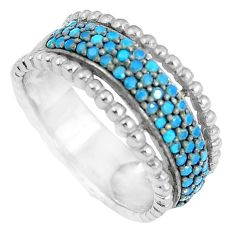 Gemstones infinity band 925 sterling silver eternity ring size 5.5 c23530