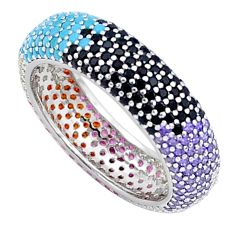 2.70cts gemstones infinity band 925 sterling silver eternity ring size 6 c23528