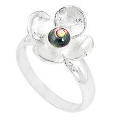 Green abalone paua seashell enamel 925 silver ring jewelry size 9 a67839 c13616