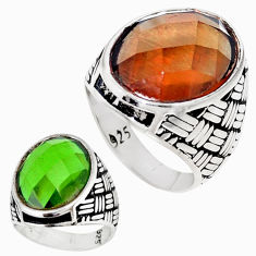Green alexandrite (lab) 925 sterling silver mens ring size 11.5 c11184