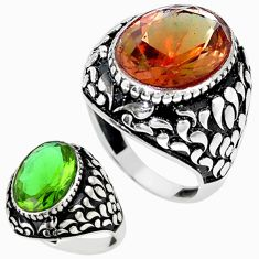 Green alexandrite (lab) 925 sterling silver ring jewelry size 11 c11189