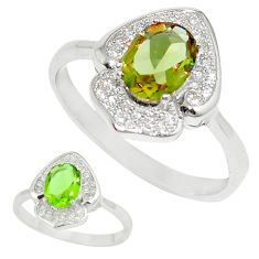 Green alexandrite (lab) topaz 925 sterling silver ring jewelry size 7.5 c23711