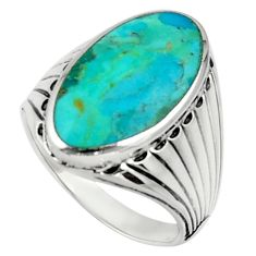 7.22cts green arizona mohave turquoise 925 silver mens ring size 10 c10040