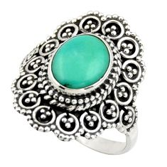 3.13cts green arizona mohave turquoise 925 silver solitaire ring size 7 r41781