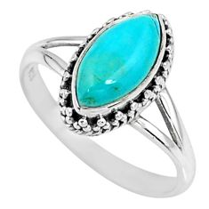2.42cts green arizona mohave turquoise 925 silver solitaire ring size 8 r57412
