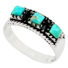 Green arizona mohave turquoise 925 sterling silver ring size 9.5 c11481