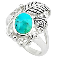 2.81cts green arizona mohave turquoise 925 sterling silver ring size 8 c10642