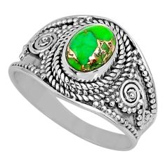 1.93cts green copper turquoise 925 silver solitaire ring jewelry size 8 r57922