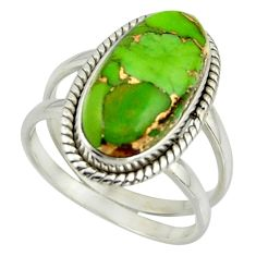 7.49cts green copper turquoise 925 sterling silver ring jewelry size 8.5 r42218