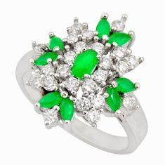 4.40cts green emerald (lab) topaz 925 sterling silver ring jewelry size 8 c9057