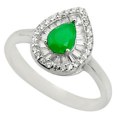 4.42cts green emerald (lab) topaz 925 sterling silver ring jewelry size 9 c10022
