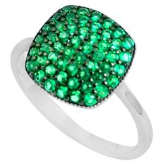 2.71cts green emerald quartz 925 sterling silver ring jewelry size 7 c26035