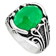 Green emerald quartz topaz 925 sterling silver mens ring size 11 c11518