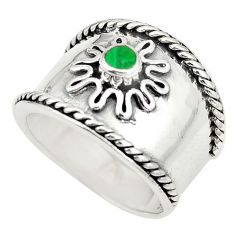 Green malachite (pilot's stone) 925 silver ring jewelry size 6.5 c12003