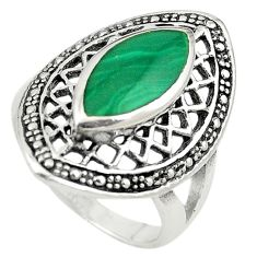 Green malachite (pilot's stone) 925 sterling silver ring jewelry size 7 c22322