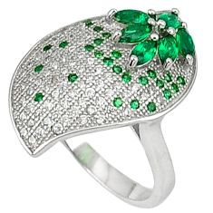 Green russian nano emerald topaz 925 sterling silver ring jewelry size 6 c23708