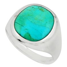 4.48gms green turquoise enamel 925 sterling silver solitaire ring size 7 c9808