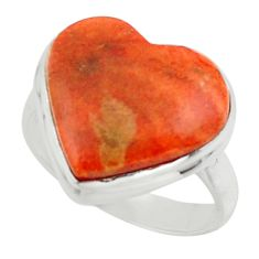 10.78cts heart copper turquoise 925 sterling silver ring jewelry size 7 r44053