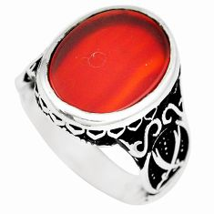 10.02cts honey onyx 925 sterling silver mens ring jewelry size 9.5 c11483