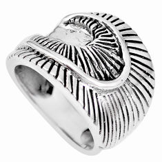 8.26gms indonesian bali style solid 925 plain silver ring size 6.5 c17100