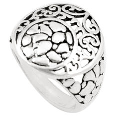 4.69gms indonesian bali style solid 925 plain silver ring size 6.5 c25864