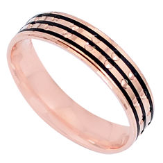 3.26gms indonesian bali style solid 925 silver 14k gold band ring size 8 c20498