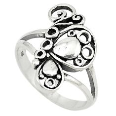 Indonesian bali style solid 925 silver butterfly ring jewelry size 8 c22248