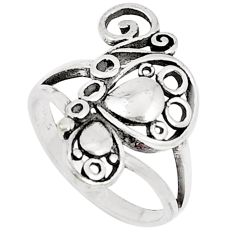 2.69gms indonesian bali style solid 925 silver butterfly ring size 6 c25874