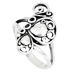 3.48gms indonesian bali style solid 925 silver butterfly ring size 7 c25873