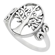 3.48gms indonesian bali style solid 925 silver tree of life ring size 10 t6258