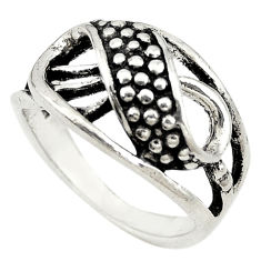 Indonesian bali style solid 925 sterling plain silver ring size 6.5 c22254