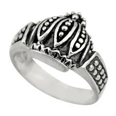 5.48gms indonesian bali style solid 925 sterling silver ring size 8 c26291