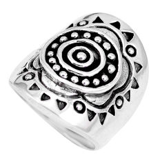 11.89gms indonesian bali style solid 925 plain silver ring size 5.5 c17099