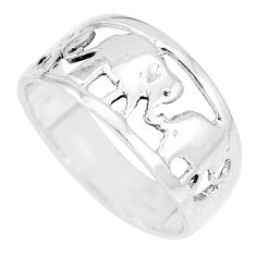 3.02gms indonesian bali style solid 925 silver elephant ring size 5.5 c17053