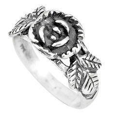 4.26gms indonesian bali style solid 925 silver flower ring size 7.5 c17050
