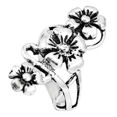 5.87gms indonesian bali style solid 925 silver flower ring size 6.5 c17083