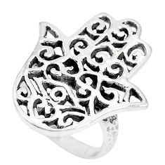 Indonesian bali style solid 925 silver hand of god hamsa ring size 5.5 c17097