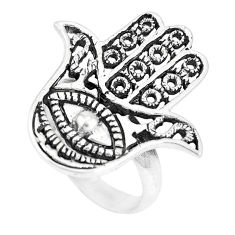 Indonesian bali style solid 925 silver hand of god hamsa ring size 7.5 c17081