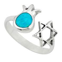 Jewish religious star david 925 sterling silver tibetan ring size 6 c10758