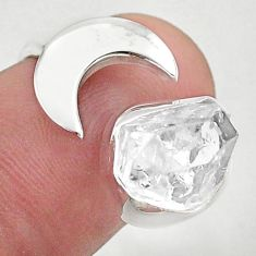 5.36cts moon natural herkimer diamond 925 silver adjustable ring size 6 t49351