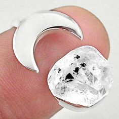 5.36cts moon natural herkimer diamond 925 silver adjustable ring size 7 t49365