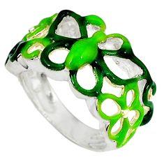 Multi color enamel 925 sterling silver butterfly ring jewelry size 5.5 c16069