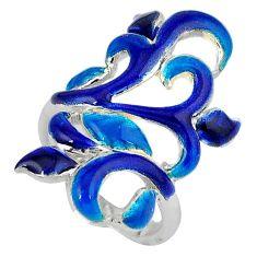 Multi color enamel 925 sterling silver designer ring size 6.5 a34579 c16159