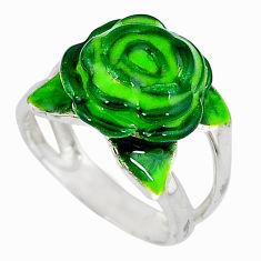 Multi color enamel 925 sterling silver flower ring jewelry size 5.5 c16209