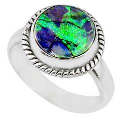 3.83cts multi color sterling opal 925 silver solitaire ring size 7 r70227