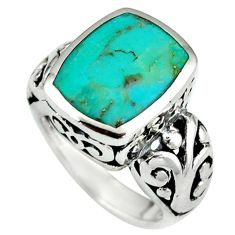 Native american natural blue arizona turquoise 925 silver ring size 6.5 c10631