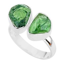 9.61cts natural apatite (madagascar) 925 silver adjustable ring size 7 t35015