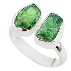9.49cts natural apatite (madagascar) 925 silver adjustable ring size 7 t35018
