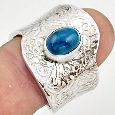 2.19cts natural apatite (madagascar) 925 silver adjustable ring size 9 r21235